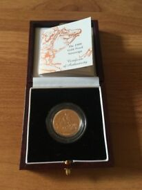 Proof full sovereign 1999 box and coa