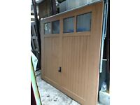 GARAGE DOOR - GRP WOOD GRAIN EFFECT to suit a frame with an opening width of 7'6 wide and 7'0 high.