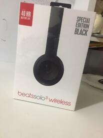 Brand New Beats Solo 3 Wireless Headphones Special Edition Black