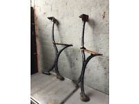 Walter Macfarlane & Co Glasgow Victorian Cast Iron Bench Ends- can deliver