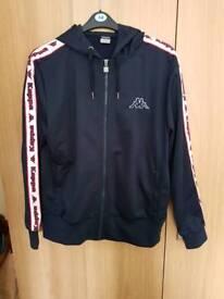 Kappa track suite top hoodie size large