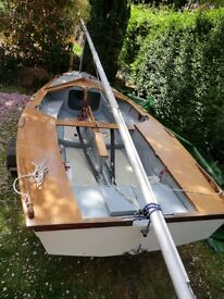 Miracle sailing dinghy 13 ft with additional Mirror rig