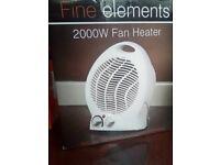 Fine Elements 2000W, White Fan Heater - £8
