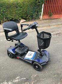 Drive scout splits into 5-parts to fit into the boot of a car boot mobility scooter