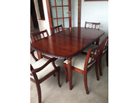 Dining Room Table + 6 chairs - extends - Collection Only - Priced For Quick Sale