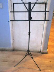 black music stand
