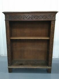 Low ornamented bookcase