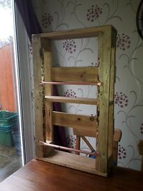 upcycled shabby chic drinks cabinet (wall mounted)