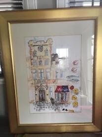 Malmaison Edinburgh original watercolour