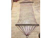 Garden rope hammock , swing