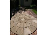 Stone patio circle, approximately 9feet diameter