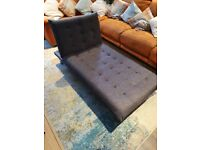 ADJUSTABLE Chaise Lounge / bed - 3 settings chocolate brown very good condition