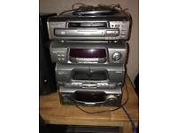 Technics CD player, tape player, aux adapter