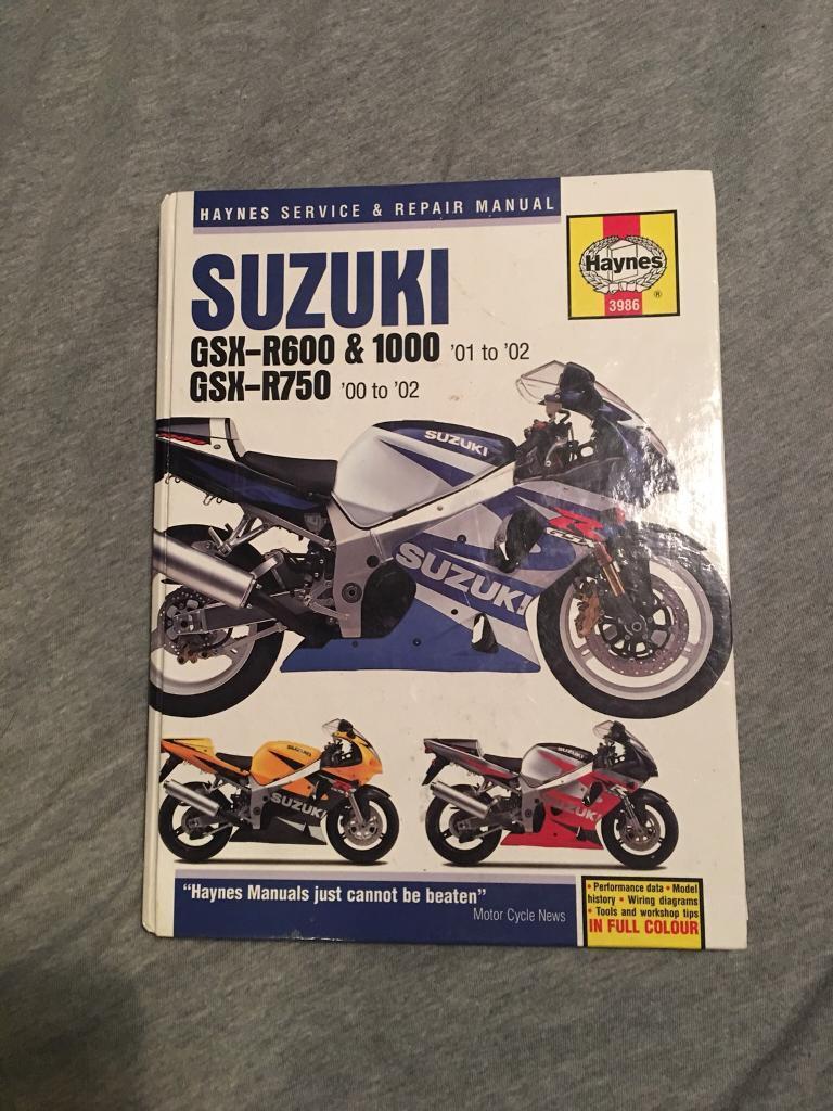 GSXR Haynes Manual - Suzuki GSX-R600 (01 - 03), GSX-R750 (00 - 03) & GSX-R1000  (01 - 02)