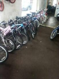 Various Childs Bikes all Diffrent Sizes At Bargain Prices