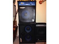 Amazing condition, Ashdown bass stack - electric blue 180 and 3x10 cabinet