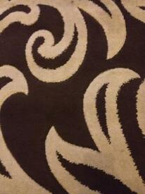Brown and Beige Rug size 80cm-150