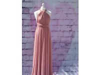5 x Dusky Pink Multiway Bridesmaid Dresses