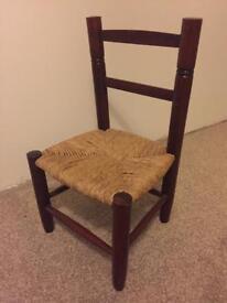 Kids mini old wood chair