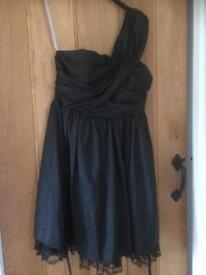 Nearly New Size 10/12 Black Red Herring Dress