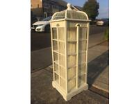 Gorgeous bird cage vintage style white wood spinning tower - alternative living oddities