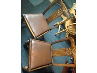 2 vintage beautiful wooden chairs