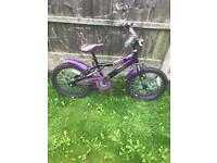 """PURPLE COLOURFUL GIRLS CHRISTINE BIKE, 18"""" WHEELS, FULLY WORKING AND REALLY GOOD CONDITION"""