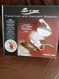 Light and easy travel iron and steamer