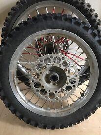 Honda crf150 wheels big wheel set