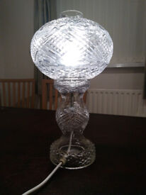 Vintage Tyrone Crystal Lamp (16inches high/400mm)