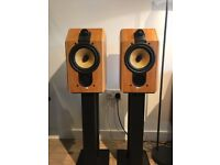 Bowers & Wilkins B&W CDM1 SE Special Edition Speakers In Cherry Wood Veneer