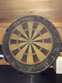 DART BOARD SIGNED BY ERIC BRISTOW