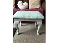 Shabby chic foot stool