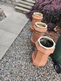 VICTORIAN OCTAGENAL CHIMNEY CANS