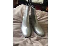 Zara silver Ankle boots size 5