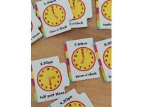 Telling the time activity learning game