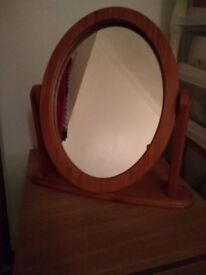 Mirror for dressing table, Pine
