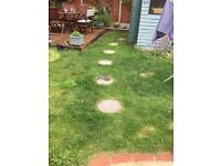 Six concrete log effect stepping stones were bought a year ago for £4.99 each