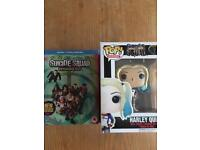 Suicide squad Blu-ray with Harley Quinn funko pop all new / sealed