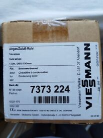 Viessmann 7373 224 flue extension, double wall pipe, 60/100mm - brand new, boxed (3 available)