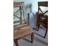 4 oak wooden chairs