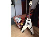 Flying V guitar w/ hard case