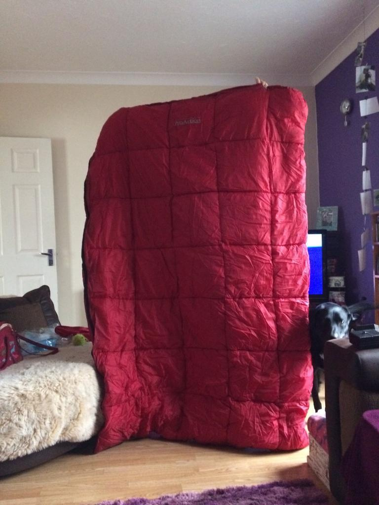 Double red sleeping bag