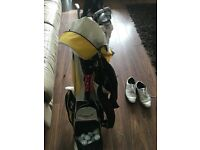 Full golf set bag shoes umbrella balls