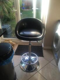 Black bar stools x2