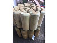 Log roll lawn edging