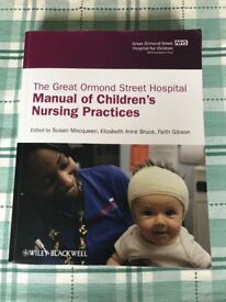 2 x Child nursing text books for nursing degree.