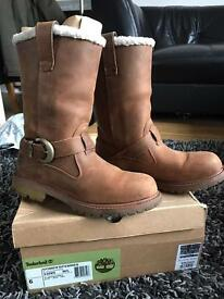 Timberland Nellie Boots Brown Size 4
