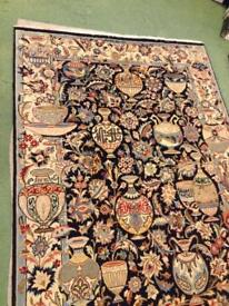 Hand Made Persian Rug Silk&Wool 196cm x 123cm