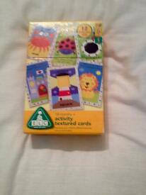 EARLY LEARNING CENTRE TEXTURED ACTIVITY CARDS. 2 YEARS PLUS. VERY NICE SET.